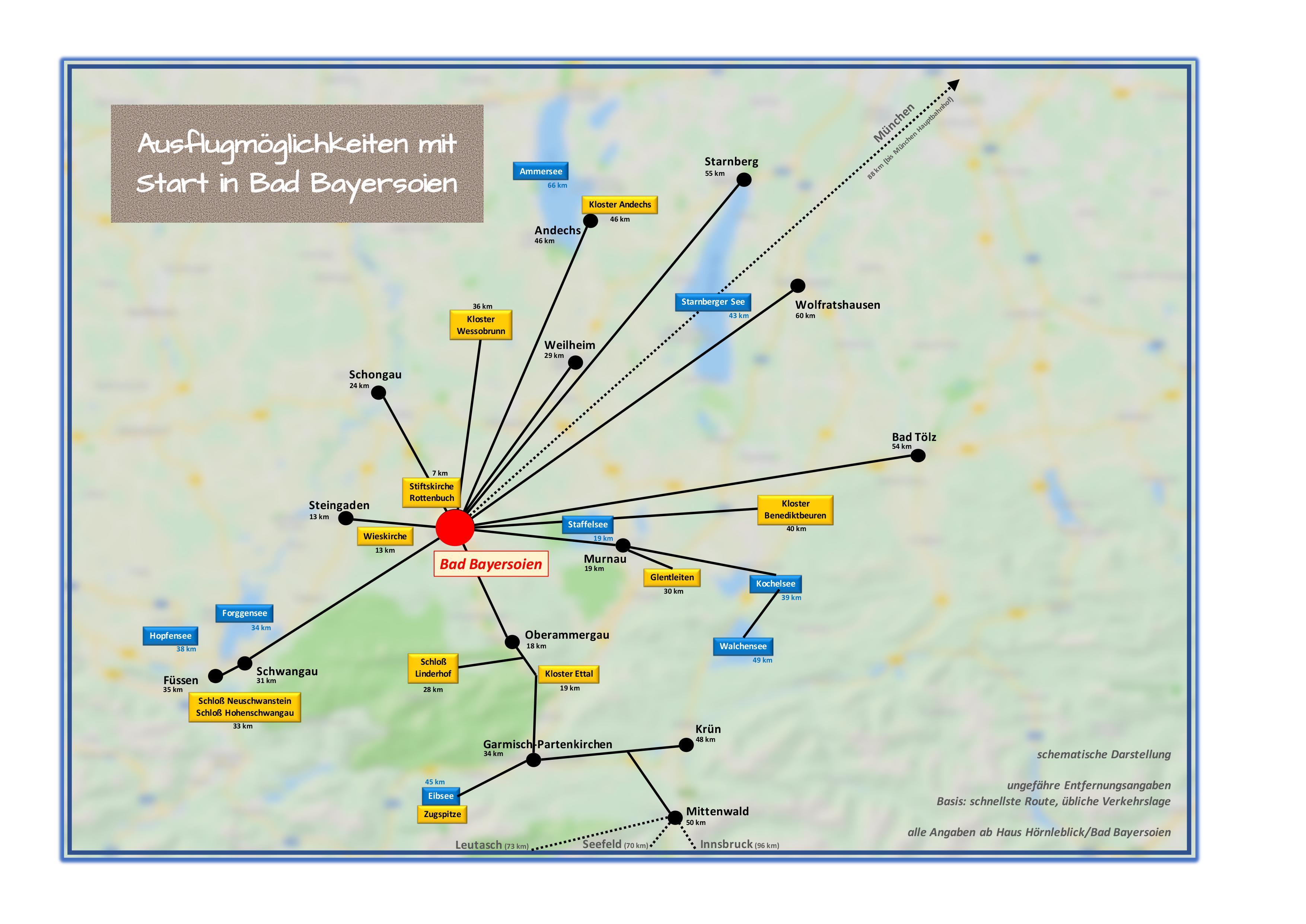 Bad Bayersoien - Web - Landkarte für Zielkarte